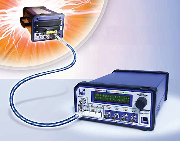 Figure 2. The ISOBE5600t/m high-voltage, fiber-optic-isolated DA system with proprietary Lightning Impulse Analysis software