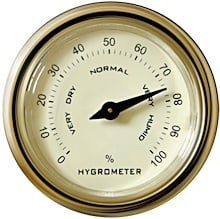 Figure 1. A hair-tension dial hygrometer with a nonlinear scale