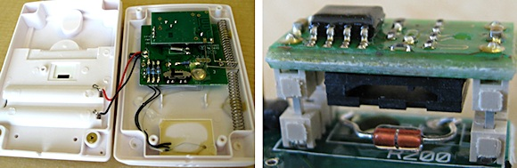 Figure 3. Examples of discrete (left) and module (right) humidity sensor solutions