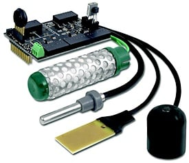 Fig. 4: The Agriculture Sensor Board for Waspmote integrates the sensors that measure a variety of environmental factors.