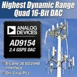 Quad DAC Supports All Wireless and Mobile Frequency Standards