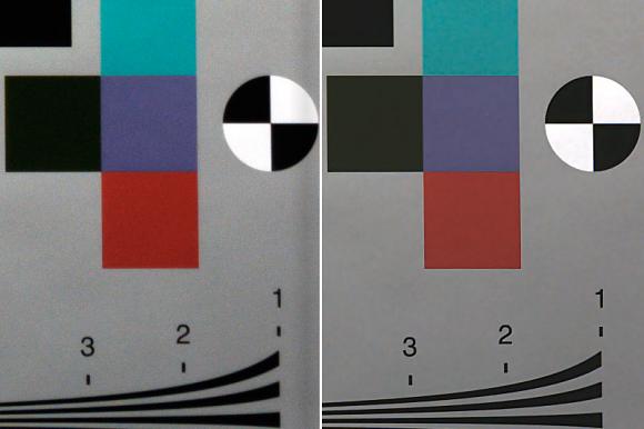 Fig 3: Mobile camera, 2-megapixel sensor: Standard Image Capture (L) / With Virtual Lens (R)