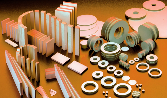 Fig. 1: Piezoceramic materials exhibit a range of properties for a large variety of medical applications. Creating a high performance product requires the right transducers. To this end, a piezoceramic supplier needs to have an information bank about the device and its intended use.