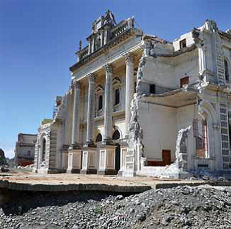Christchurch after the earthquake.