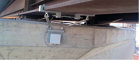 Fig. 5: An LVIT monitors changes in conditions under a bridge.