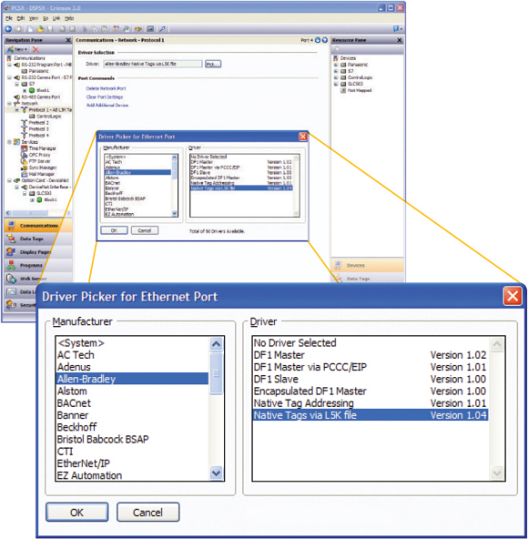 Fig. 1: A sample screenshot from Crimson protocol-conversion software.
