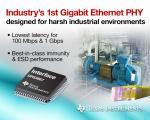 Gigabit Ethernet PHYs Address Industry 4.0 Applications