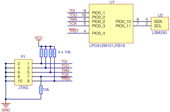 Fig. 2: A typical IoT sensor node design based on a low power MCU and MEMS sensor module.