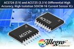 Differential Current Sensor ICs Feature High-Accuracy, High-Isolation