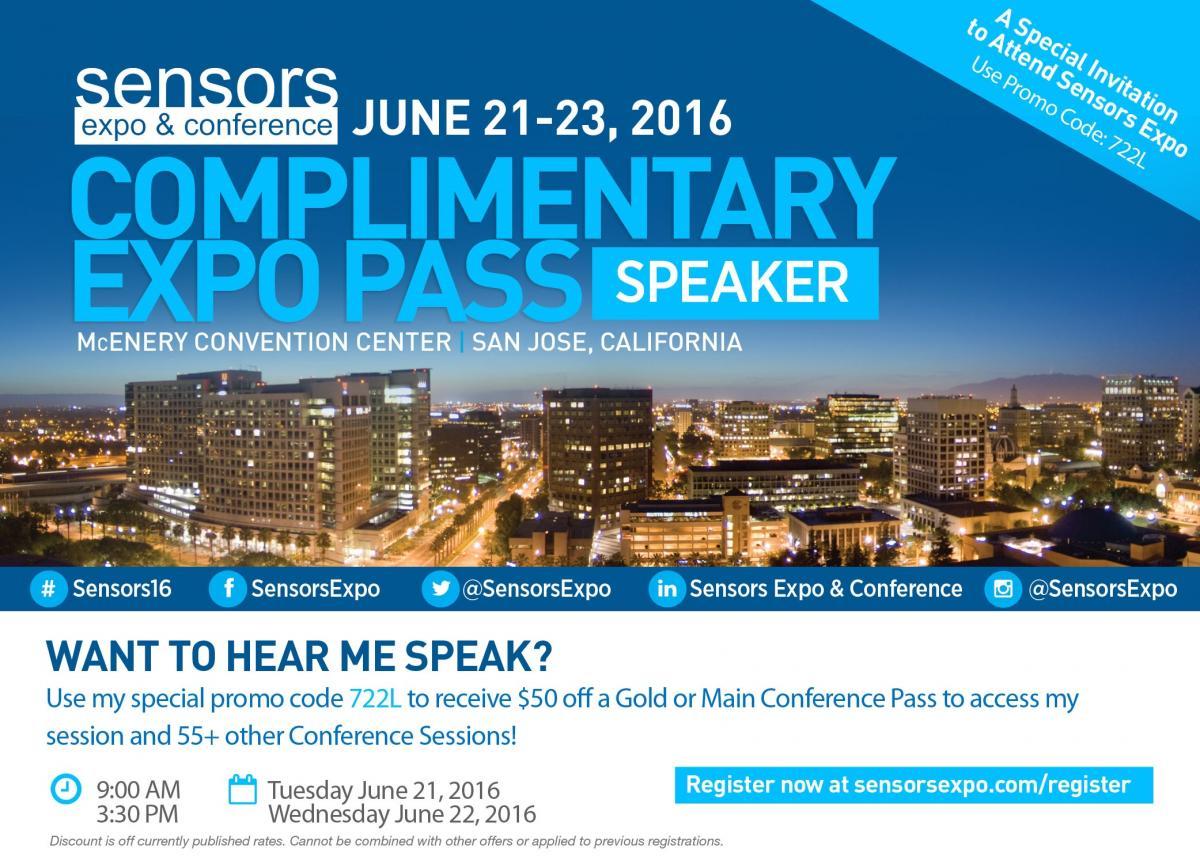 Sensors Expo Speaker Guest Pass
