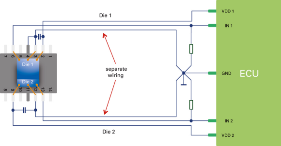 Fig. 3: Wiring option for analysing the sensor data