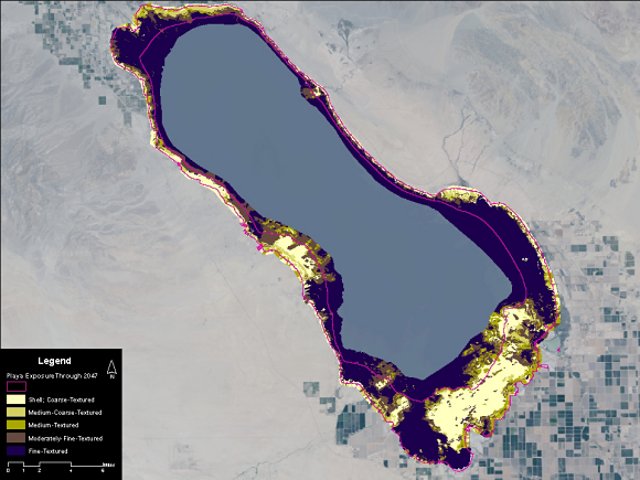 Fig. 1: The Salton Sea is a unique saline, terminal lake in need of conservation monitoring.