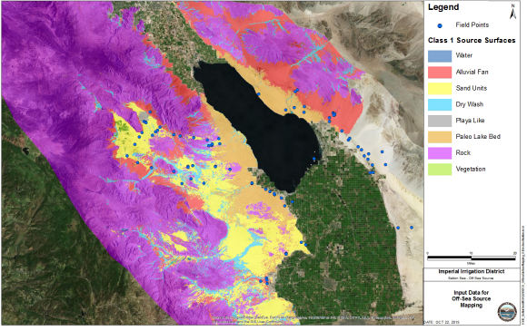 Fig. 6: Basin-wide mapping leverages aerial photography and satellite imager to gather intelligence on dust source areas.