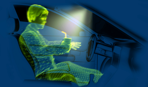 ToF technology uses an infrared light source to detect changes of position and motion inside the vehicle