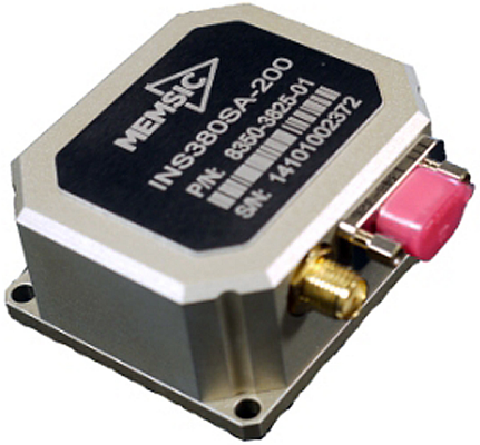 Fig.3:  The INS380SA module pictured here is a complete inertial navigation system with a built-in 48-channel GPS receiver.