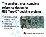 Reference Design Accelerates USB Type-C Docking Station Development