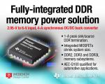 DC/DC Buck Converter Integrates 1A Peak Sink/Source DDR Termination