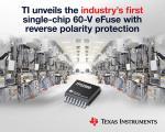 Single-Chip 60V eFuse Packs Reverse-Polarity Protection