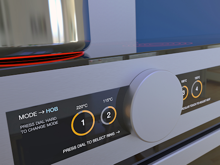 Fig. 1: Force touch sensors can improve and simplify oven controls, giving a safe and intuitive user experience.