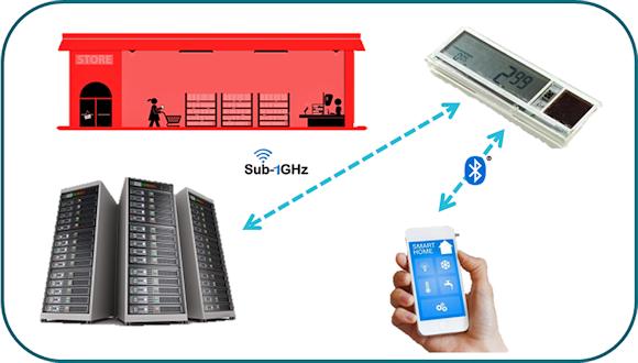 Fig. 2: Configure Bluetooth low energy advertisements via a long-range Sub-1 GHz server.