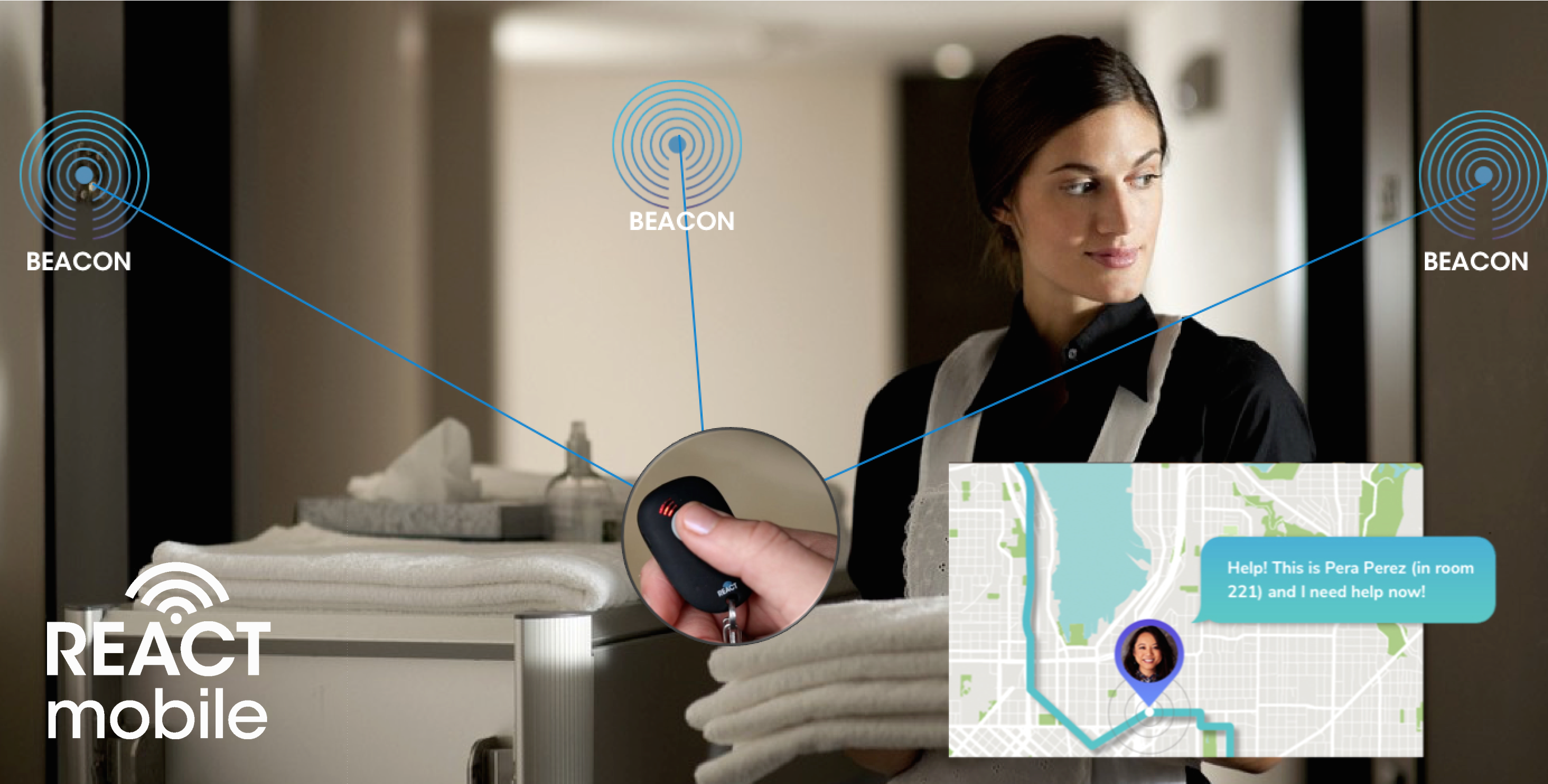 React Mobile Introduces Standalone Safety Device Hotel