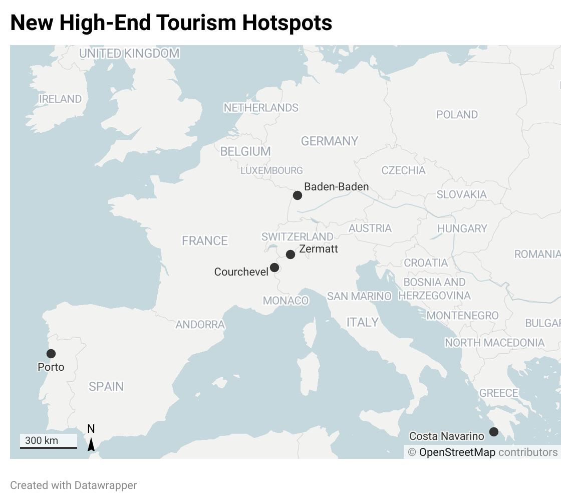 high-end tourism hotspots