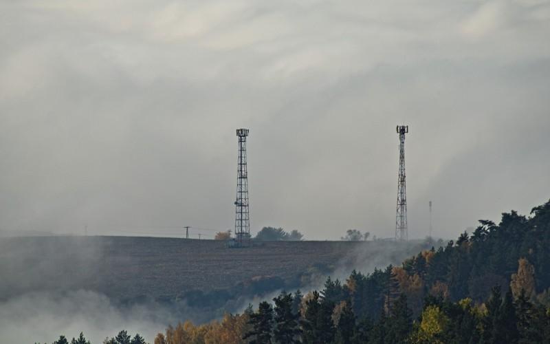 masts in fog