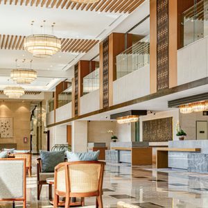 Hilton hotel lobby