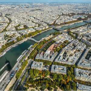 City, Paris, river