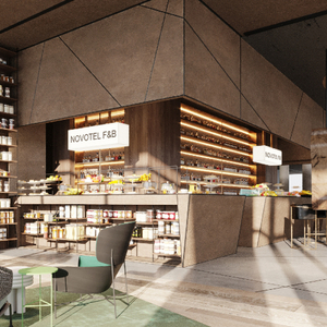 An image of one of the new Novotel designs by Sundukovy Sisters