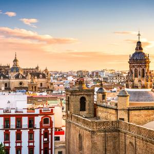 Seville Spain skyline in the Old Quarter