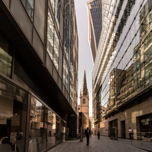 A view in the City of London