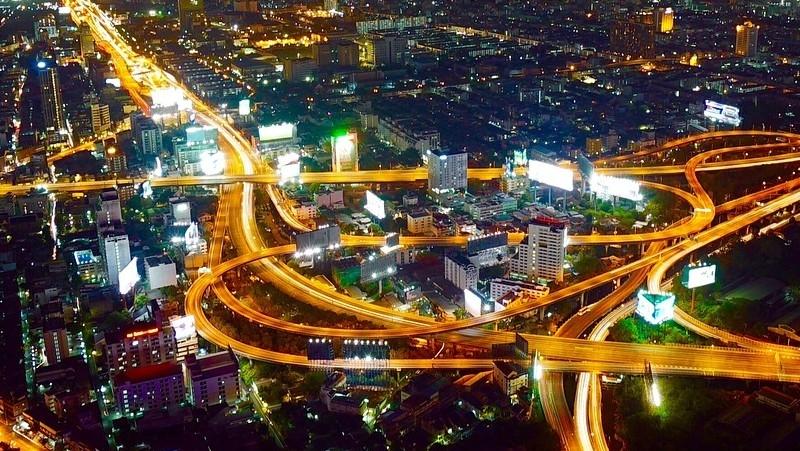 aerial Bangkok