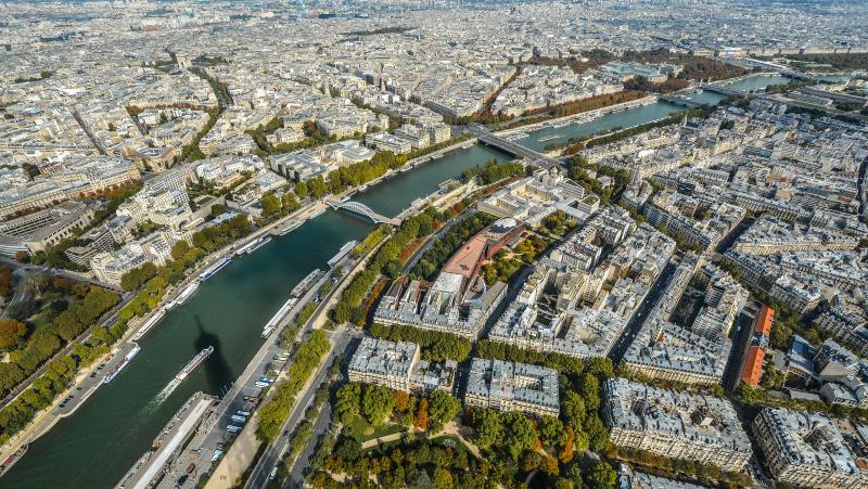 City, Paris, river