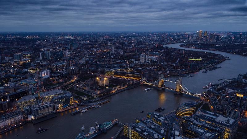 London sky