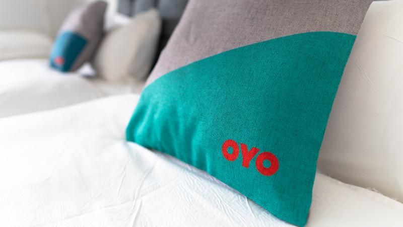 Oyo branded bedding