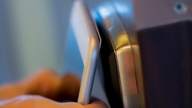 Opening door using phone