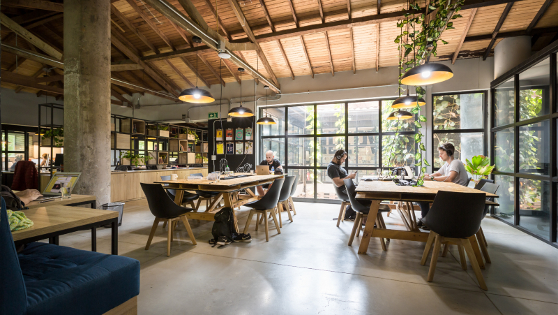 Coworking space at Selina Medellin