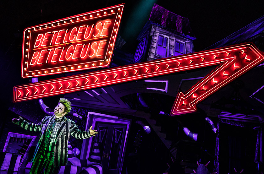 scenic design for Beetlejuice the Musical