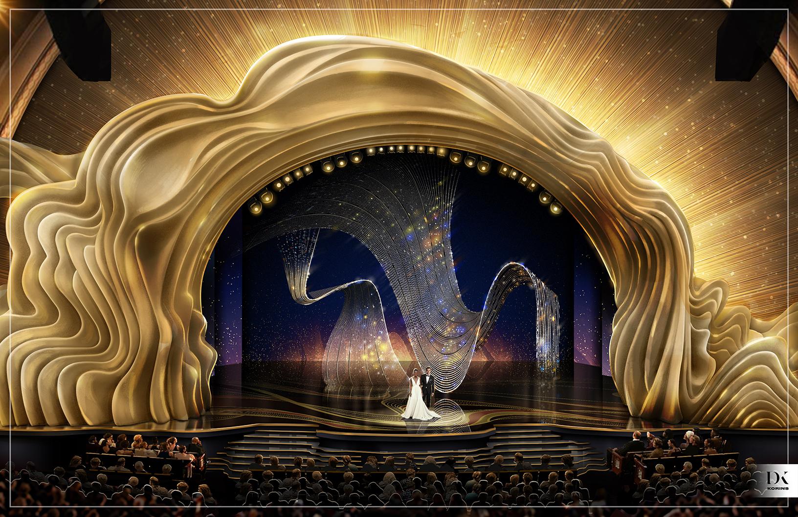 2019 Oscars stage design rendering