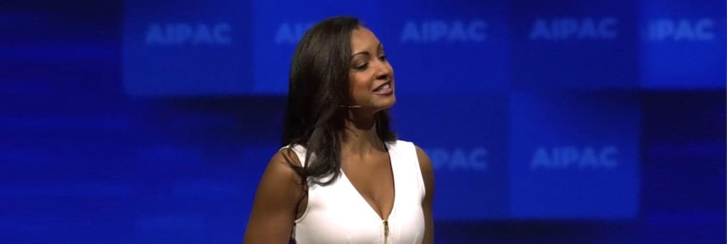 AIPAC Policy Conference speakers wear dual element headset microphones