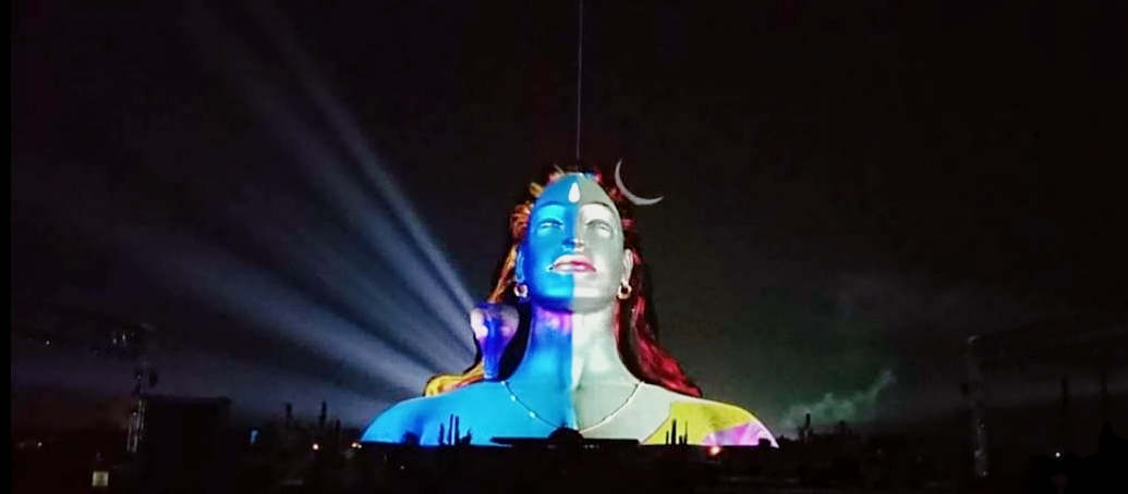 Adiyogi Divya Darshanam projection mapping