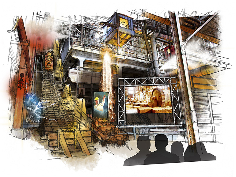BOOM immersive theatrical experience with special effects