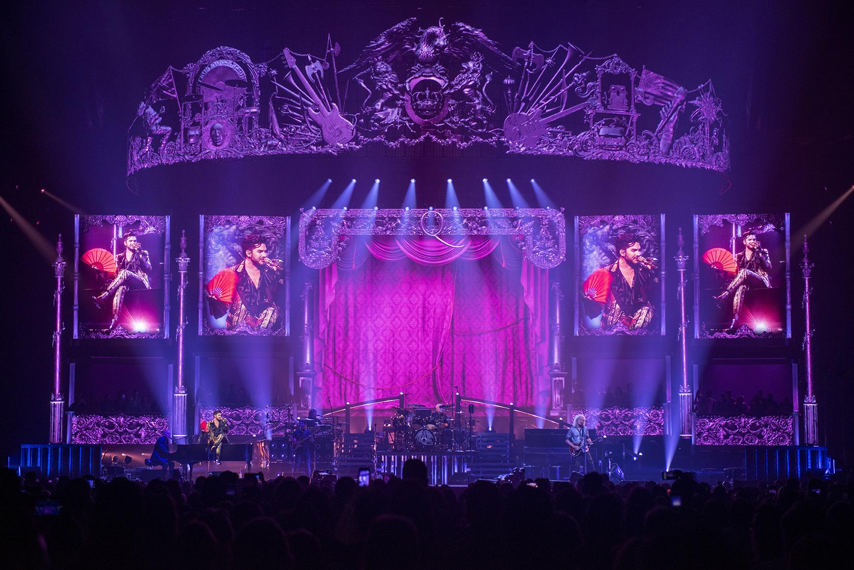 stage design and lighting design for Queen + Adam Lambert Tour