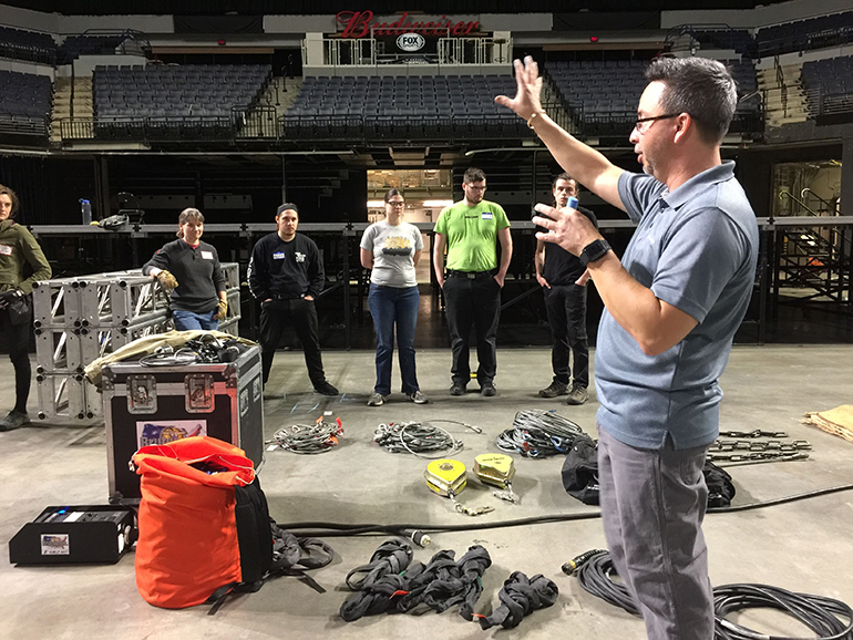 entertainment rigging and training
