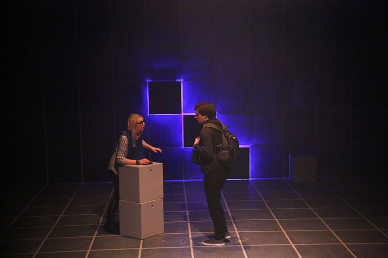 scenic design for The Curious Incident of the Dog in the Night-Time