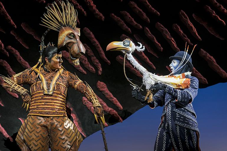 Richard Hurst (Scar) and Matthew Forbes (Zazu) in Disney's The Lion King UK & Ireland tour © Disney.jpg