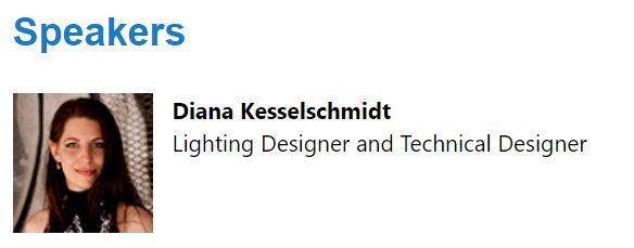 Lighting designer and technical designer Diana