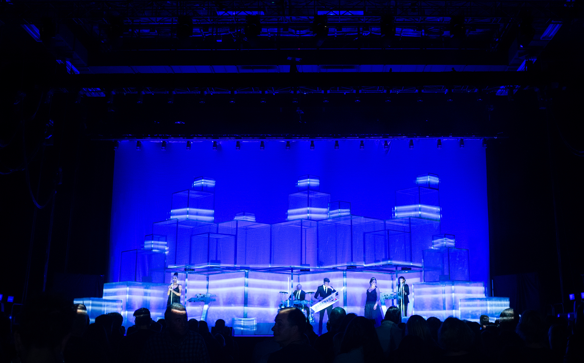 projection mapping The Human League concert tour design
