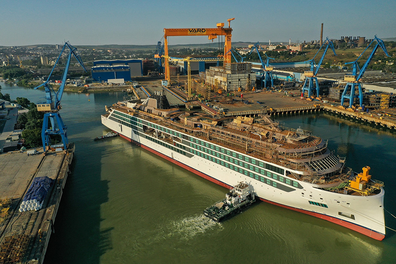 Viking Marks Float Out Of Second Expedition Ship, Viking Polaris